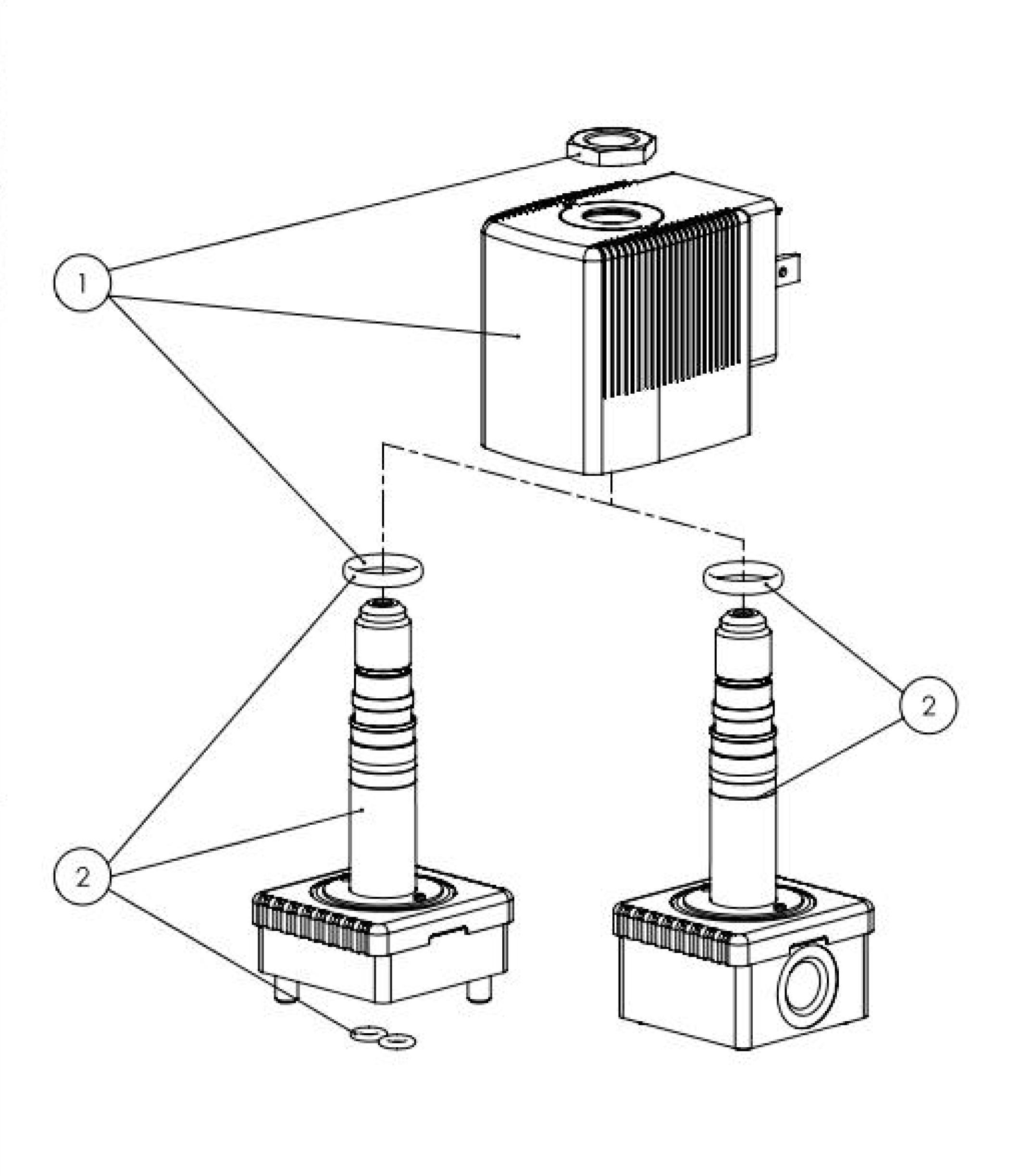 Tipo 6013-125301 BURKERT Electrovalvula De Accion Directa 2//2 Vias